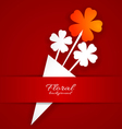 Abstract paper flower on a red background vector image vector image