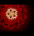 abstract red flower vector image