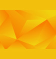 abstract yellow geometric low polygon background vector image