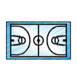 basketball court isolated icon vector image