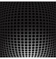 Black Metal carbon holes background vector image