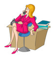 businesswoman on the phone vector image