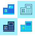 cash register icon set in flat and line style vector image
