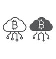 cloud mining line and glyph icon finance vector image vector image