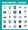 computer icons set collection of camera vector image vector image