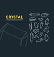 crystal hand drawn crystal vector image vector image