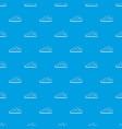 cumulus cloud pattern seamless blue vector image vector image