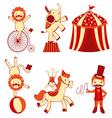 Cute circus vector image