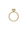 Diamond ring computer symbol vector image vector image