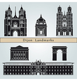 Dijon landmarks and monuments vector image vector image