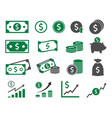 dollar icons set money icon vector image