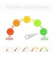 Feedback emoticon bar vector image vector image