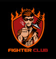 fighter club vector image vector image