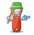 fishing plastic bottle opener isolated on cartoon vector image