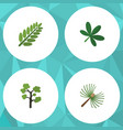 flat icon ecology set of maple garden leaves and vector image vector image