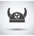 Football fans horned hat icon vector image vector image