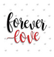 forever love lettering vector image vector image