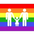 Gay family icon rainbow background vector image vector image
