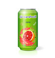 grapefruit juice can fruit drink vector image vector image