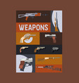 guns and vinchesters poster vector image vector image