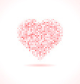 Heart made of dots vector image vector image