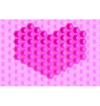heart shape hexagons background vector image vector image