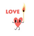 heart with a lighted match vector image