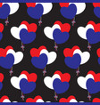 hearts-balloons of french flags colors vector image