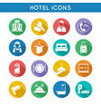 Hotel Travel Icons Set vector image vector image