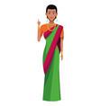 indian woman avatar cartoon character