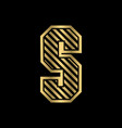 initial s with stripes logo creative concept vector image vector image