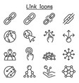 link icon set in thin line style vector image vector image