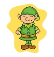 Little Christmas elf helpers kid cartoon vector image