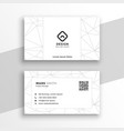 low poly style geometric white business card vector image vector image