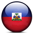Map on flag button of Haiti vector image vector image
