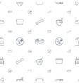 meal icons pattern seamless white background vector image vector image
