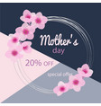 mothers day sale discount 20 off beautiful vector image