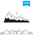 mountain icons isolated vector image vector image