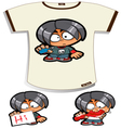 Naughty Boy T-shirt vector image vector image