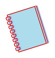 notebook papers object design to write vector image vector image