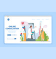 online consultation and healthcare with a doctor vector image