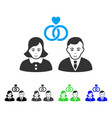 positive people marriage icon vector image vector image