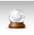 realistic christmas snowglobe 3d winter toy vector image