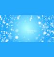 realistic snowfall against a dark vector image vector image