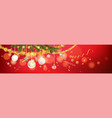 red and shine holiday banner vector image vector image