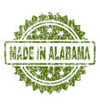 scratched textured made in alabama stamp seal vector image vector image