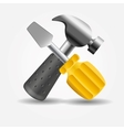 Screwdriver and hammer icon vector image vector image