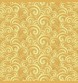 seamless pattern with golden painted waves vector image vector image