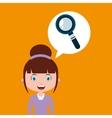 seraching education online design girl vector image vector image