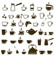 set coffee cup and tea cup icons vector image